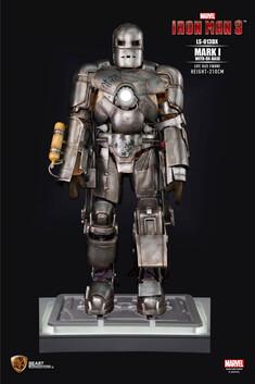 Iron Man 3 Iron Man Mark 1 Life Size Figure (with DX Base)