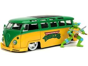 Teenage Mutant Ninja Turtles - '62 VW Bus w/Leonardo 1:24 Scale Hollywood Ride