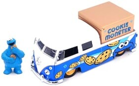 Sesame Street - '63 VW Bus w/Cookie Monster 1:24 Scale Hollywood Ride